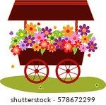 flower vectors  flower car... | Shutterstock .eps vector #578672299