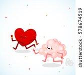 heart vs brain  logic and feel  ... | Shutterstock .eps vector #578674519