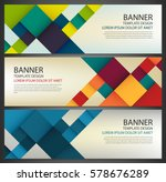 Business Banner With Colorful...