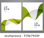 abstract green minimal cover or ... | Shutterstock .eps vector #578679439