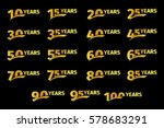 isolated golden color numbers... | Shutterstock .eps vector #578683291