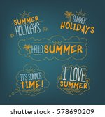 vector summer badges collection ... | Shutterstock .eps vector #578690209