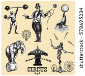 Circus And Amusement Vector...