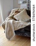 faux fur throws and cushions... | Shutterstock . vector #578696464
