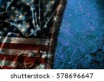 usa flag vintage background | Shutterstock . vector #578696647