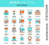 vector set of digital marketing ... | Shutterstock .eps vector #578702449