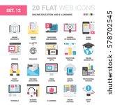vector set of online education... | Shutterstock .eps vector #578702545