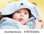 cutest baby child after bath... | Shutterstock . vector #578703301