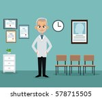 doctor office practitioner... | Shutterstock .eps vector #578715505