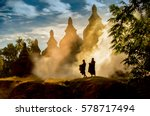 Buddhist Novice Monks Walking...