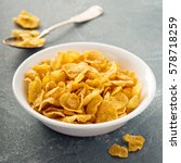 cornflake cereals in a bowl... | Shutterstock . vector #578718259