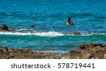 snorkeling on the reef. costa... | Shutterstock . vector #578719441