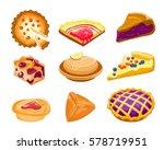 homemade organic pie dessert... | Shutterstock .eps vector #578719951
