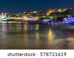 twilight view of beach and new... | Shutterstock . vector #578721619