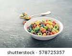 Fruit Colorful Sweet Cereals In ...