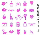 wedding outline icons vector... | Shutterstock .eps vector #578725849