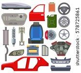 car service parts mechanic... | Shutterstock .eps vector #578725861