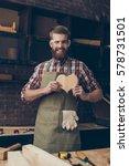 happy handsome joiner in love...   Shutterstock . vector #578731501