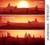 desert trip. extreme tourism... | Shutterstock .eps vector #578732137