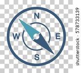 compass icon. vector... | Shutterstock .eps vector #578733139