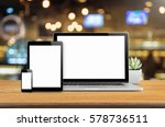 laptop smartphone and tablet... | Shutterstock . vector #578736511
