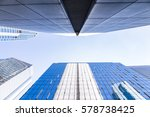 buildings in hongkong under... | Shutterstock . vector #578738425