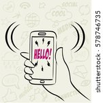 hand drawn vector illustration... | Shutterstock .eps vector #578746735