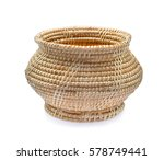 Wooden Basket Isolated On White ...