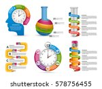 collection infographics. design ... | Shutterstock .eps vector #578756455