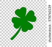 leaf clover sign. dark green...