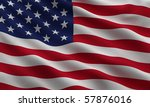 Flag Of The Usa Waving In The...