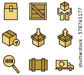 box  delivery and packaging... | Shutterstock .eps vector #578761177