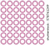decorative pink circle pattern | Shutterstock .eps vector #578761249