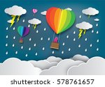 vector illustration rainy...   Shutterstock .eps vector #578761657