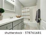 new bathroom interior boasts... | Shutterstock . vector #578761681