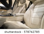 luxury car interior with close... | Shutterstock . vector #578762785