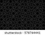 112 Black Puzzles Pieces...