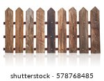 Wood Fence Isolated On White.