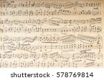 ancient musical manuscript | Shutterstock . vector #578769814