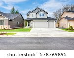 grey house exterior with two... | Shutterstock . vector #578769895