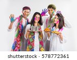 4 indian friends or 2 young... | Shutterstock . vector #578772361