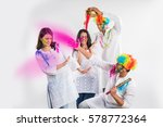 4 indian friends or 2 young... | Shutterstock . vector #578772364