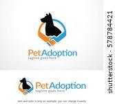 Stock vector pet adoption logo template design vector 578784421