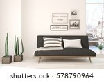 white room with sofa and winter ... | Shutterstock . vector #578790964