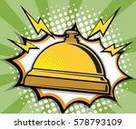 abstract hotel services bell... | Shutterstock .eps vector #578793109