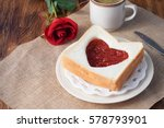 Red Heart Shape Bread And...