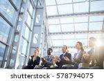 multi ethnic business team... | Shutterstock . vector #578794075