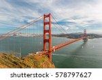 golden gate bridge  san... | Shutterstock . vector #578797627