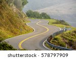 highway 1 on the pacific coast  ... | Shutterstock . vector #578797909