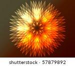 raster abstract flower... | Shutterstock . vector #57879892